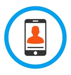Mobile contact rounded icon vector