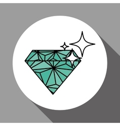 Diamond design over white background vector