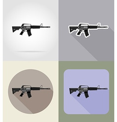 weapon flat icons 03 vector image