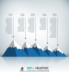 Mountain infographic vector