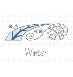 Abstract picture with season winter vector