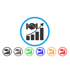 Acquisition growth rounded icon vector