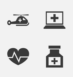 Antibiotic icons set collection of copter vector