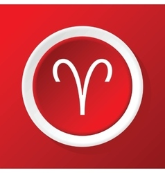 Aries icon on red vector