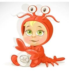 Baby zodiac - sign cancer vector