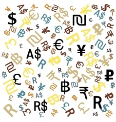 Background of the major world currencies vector image vector image