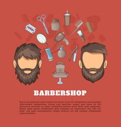 Barbershop tools concept cartoon style vector