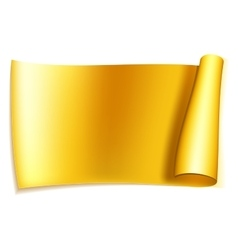 Big gold ribbon vector image vector image