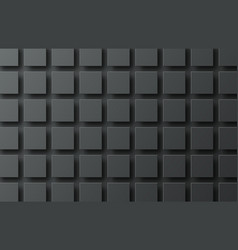 Black background with flying squares casting a vector