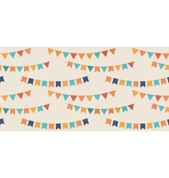 Bunting party flags seamless pattern vector