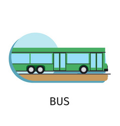 Bus in flat style vector