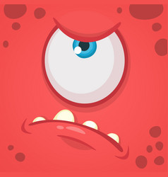 cartoon angry monster face avatar vector image vector image