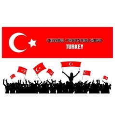 Cheering or Protesting Crowd Turkey vector image vector image