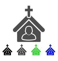 church person flat icon vector image vector image