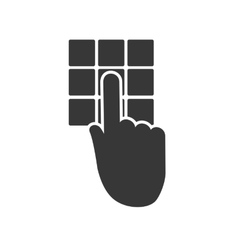 Code hand buttons silhouette security system icon vector