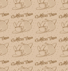 Coffee texture vector