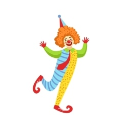 Colorful friendly clown with tie in classic outfit vector