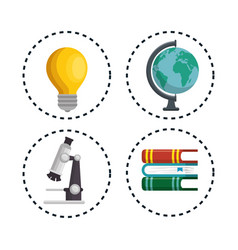 education concept elements icon vector image vector image