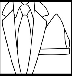 Figure elegant suit with tie icon vector