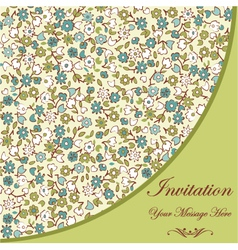 Floral Invitation Template vector image