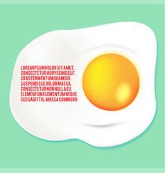 Fried egg yolk background template vector