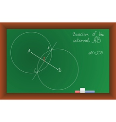 green school Blackboard vector image