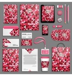 Love hearts Corporate identity vector image