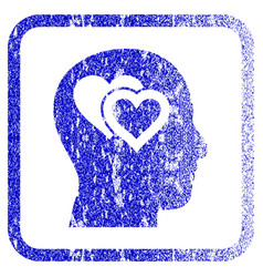 Love in mind framed textured icon vector