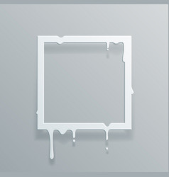 Paper 3d flowing art flux square drop leak vector