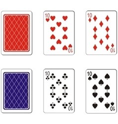 Playing card set 03 vector image