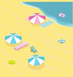 Sea beach isometric vector