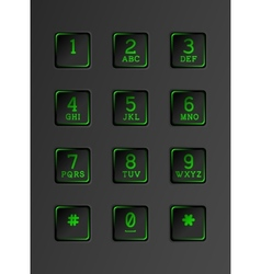 Security keyboard with neon lights vector image