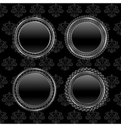 set aluminum medallion design elements - vector image