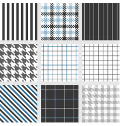 Set of seamless pattern such as pinstripe vector