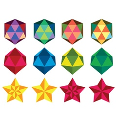 Simple polygon objects vector