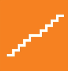 Stair orange icon vector