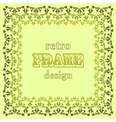 Stylised leaves frame on green background vector
