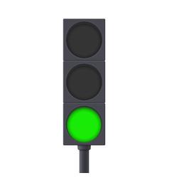Traffic light green light on vector