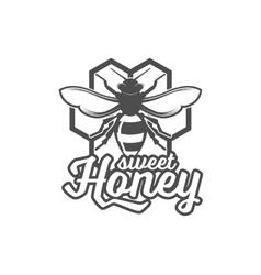 Vintage frame with Honey label vector image