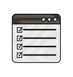 Web page check mark report list flat design vector