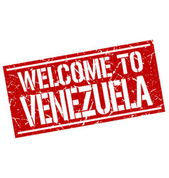 Welcome to venezuela stamp vector