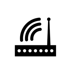 Wifi router technology vector image