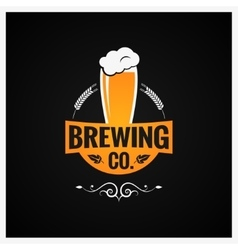Beer glass logo brewing company background vector