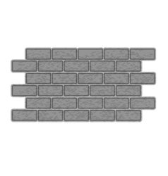 Brick wall icon gray monochrome style vector