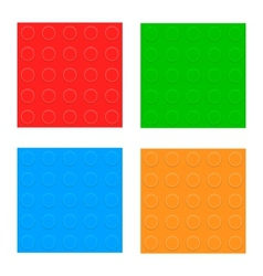 Set of seamless patterns plastic constructor vector