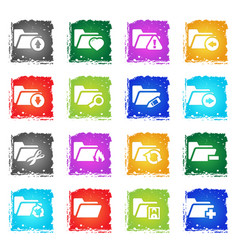 Folder icon set vector