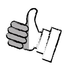 Hand like social icon vector