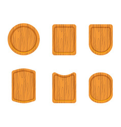 set of empty wooden cutting boards vector image