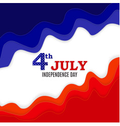 Fourth of july independence day of the united vector