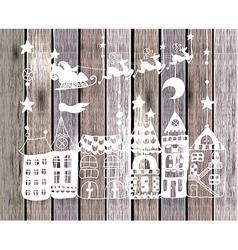 New year card with Santa vector image